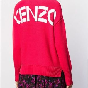 📌 KENZO Back Logo Red Pullover Sweater